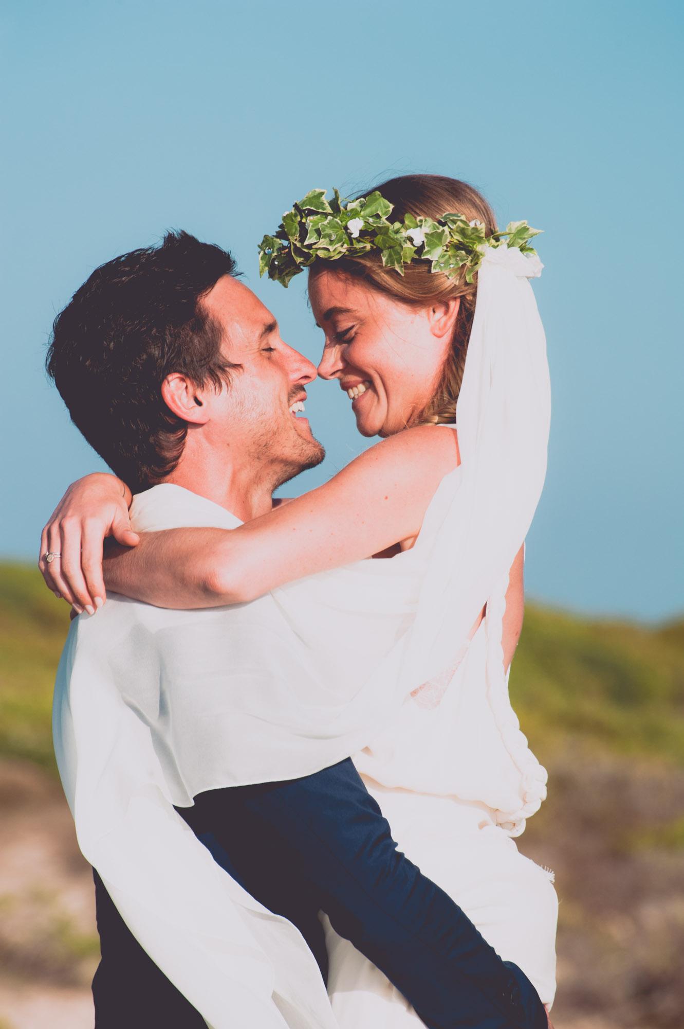 Photographe mariage bohème chic Corse Bonifacio - C et A (75)