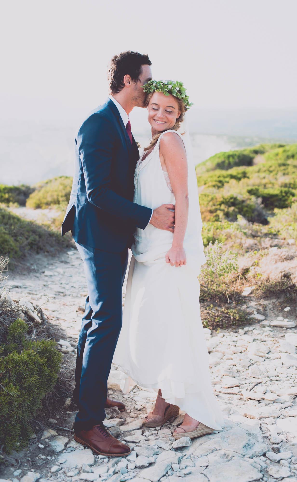 Photographe mariage bohème chic Corse Bonifacio - C et A (77)
