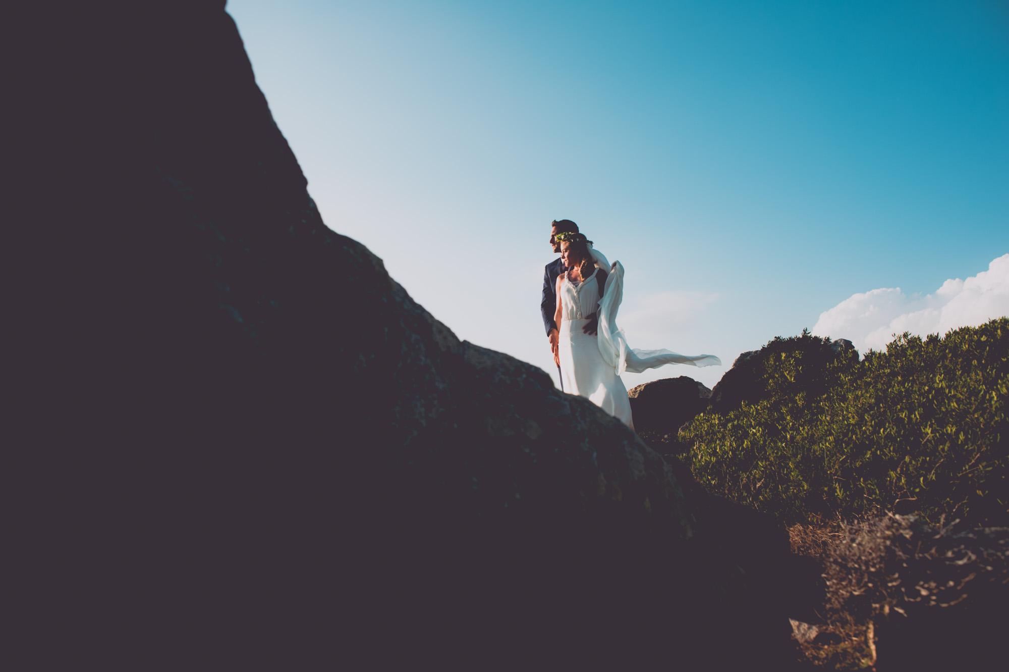 Photographe mariage bohème chic Corse Bonifacio - C et A (93)